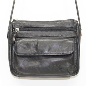 Fossil Black Leather Small Cross Body Purse